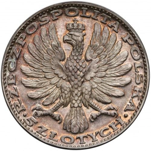 LUSTRZANE 5 złotych 1928 Matka Boska Amrogowicza - PIĘKNE