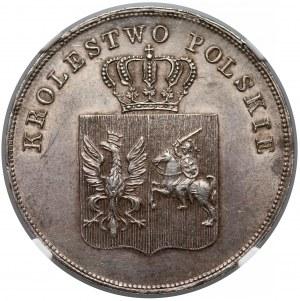 Powstanie Listopadowe, 5 złotych 1831 KG - NGC MS62