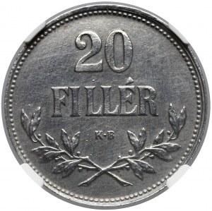 Węgry, 20 fillerów 1921 - NGC UNC