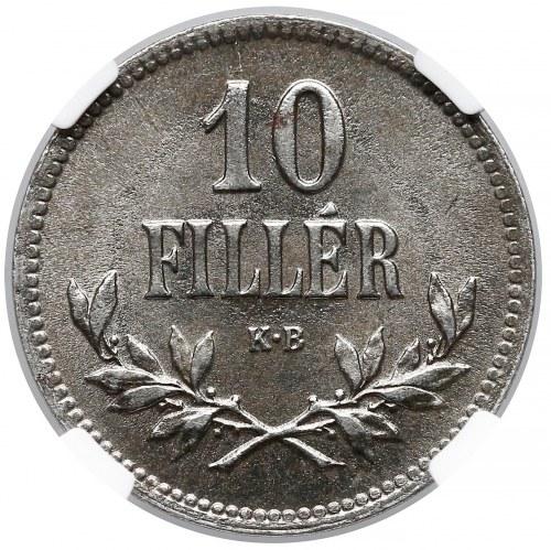 Węgry, 10 fillerów 1920 - NGC MS63