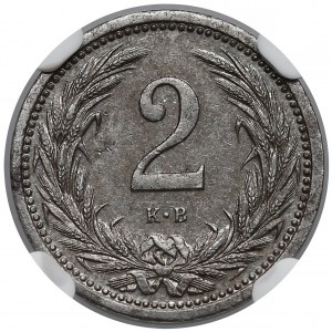 Węgry, 2 fillery 1916 KB - NGC AU58