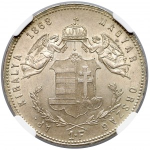 Austro-Węgry, Forint 1868 GYF- NGC MS62