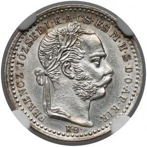 Austro-Węgry, 10 krajcarów 1875 KB - NGC AU58