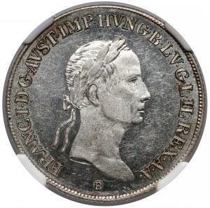 Austro / Węgry, 20 krajcarów 1833-B - NGC MS62