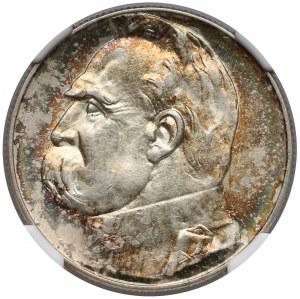 Piłsudski 5 złotych 1938 - NGC MS63+