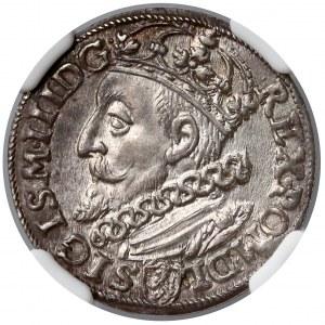 Zygmunt III Waza, Trojak Kraków 1600 - NGC MS62