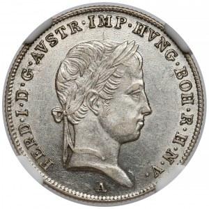 Austria, 10 krajcarów 1847-A - NGC MS61