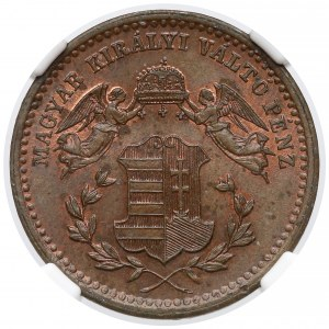 Austro-Węgry, Krajcar 1868 KB - NGC MS64 BN