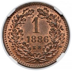 Austro-Węgry, Krajcar 1886 KB - NGC MS65 BN