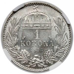 Austro-Węgry, Korona 1896 KB - NGC MS63