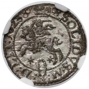 Zygmunt III Waza, Szeląg Wilno 1623 - rozetka - NGC MS63
