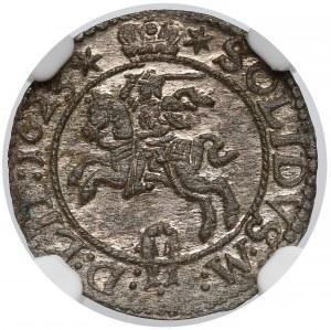 Zygmunt III Waza, Szeląg Wilno 1623 - kropka - NGC MS62