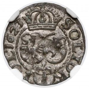 Zygmunt III Waza, Szeląg Bydgoszcz 1623 - NGC MS61