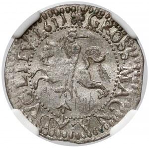 Zygmunt III Waza, Grosz Wilno 1611 - LITVA/LITV - rzadki