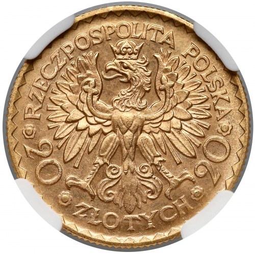 20 złotych 1925 Chrobry - NGC MS66 (MAX)