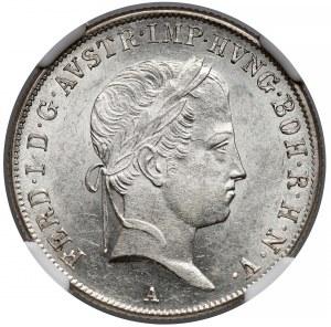 Austria, 20 krajcarów 1837-A - NGC MS61