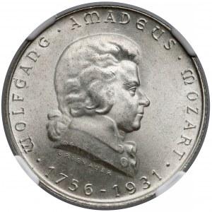 Austria, 2 szylingi 1931 Mozart - NGC MS64