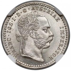 Austro-Węgry, 10 krajcarów 1872 - NGC MS63