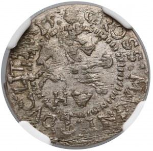 Zygmunt III Waza, Grosz Wilno 1615 - 2x data - NGC AU58