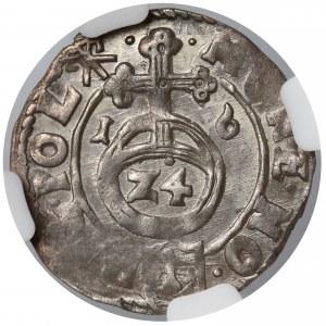Zygmunt III Waza, Półtorak Kraków 1616 - Sas - NGC MS61