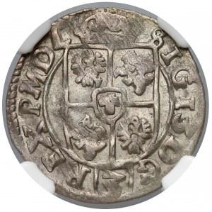Zygmunt III Waza, Półtorak Bydgoszcz 1614 - tarcza - NGC MS61