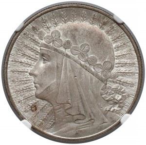 Głowa Kobiety 10 złotych 1933 - NGC MS63