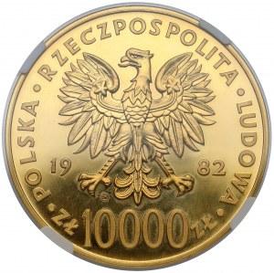 10.000 złotych 1982 Jan Paweł II - NGC MS62