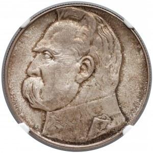 Piłsudski 10 złotych 1939 - NGC MS64