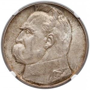 Piłsudski 10 złotych 1938 - NGC MS62