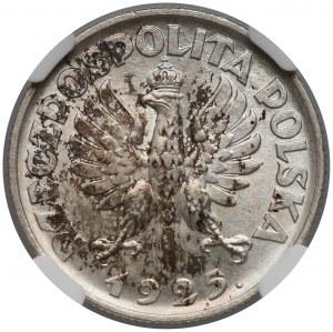 Kobieta i kłosy 1 złoty 1925 - NGC MS65
