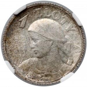 Kobieta i kłosy 1 złoty 1924 - NGC MS62+