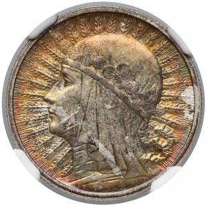 Głowa kobiety 2 złote 1932 - NGC MS64