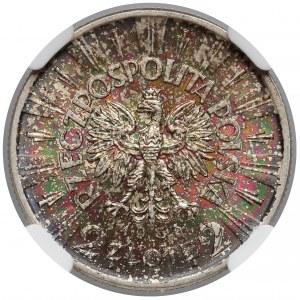 Piłsudski 2 złote 1936 - rzadki rocznik - NGC MS64