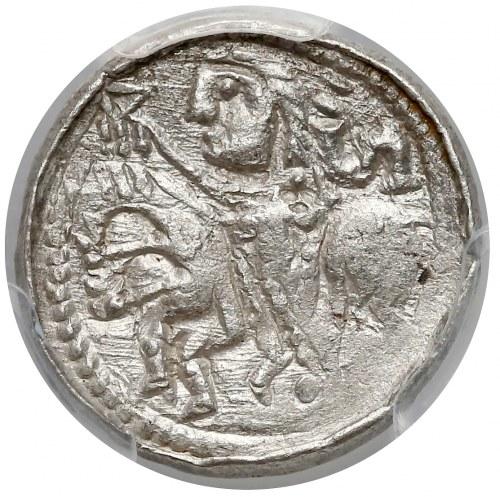 Bolesław II Śmiały, Denar książęcy - leżące S