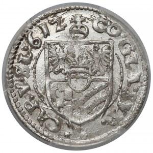 Śląsk, Karol II, 3 krajcary Oleśnica 1612 - PCGS MS65