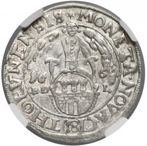 Jan II Kazimierz, Ort Toruń 1662 HDL - NGC MS61