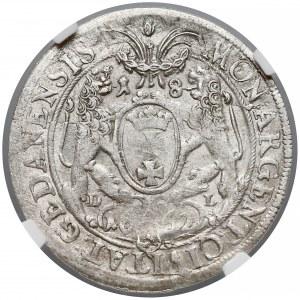 Jan II Kazimierz, Ort Gdańsk 1662 - lewek w tarczy - NGC AU58