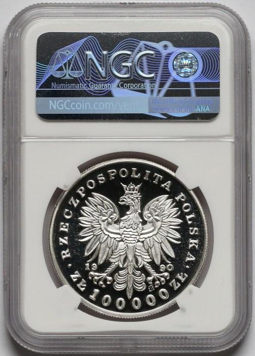 Mały Tryptyk 100.000 złotych 1990 Kościuszko - NGC PF70 UC (MAX)