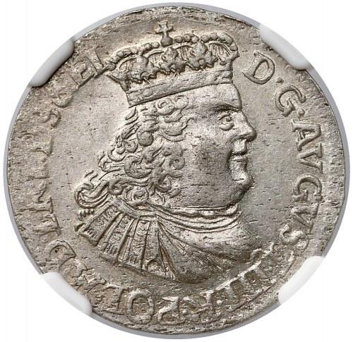 August III Sas, Szóstak Toruń 1763 - PIĘKNY i rzadki - NGC MS61