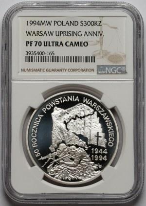 300.000 złotych 1994 50. rocznica Powstania Warszawskiego - NGC PF70 UC (MAX)