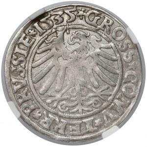 Zygmunt I Stary, Grosz Gdańsk 1535 - NGC AU55