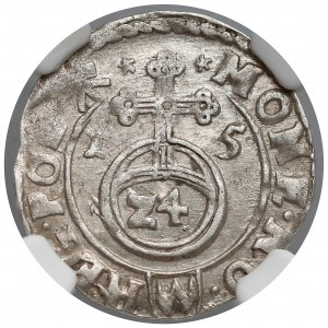 Zygmunt III Waza, Półtorak Kraków 1615 - NGC AU58
