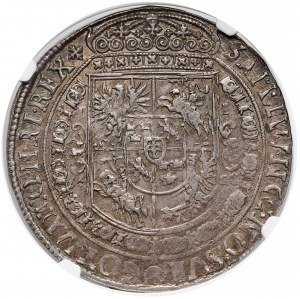 Zygmunt III Waza, Talar Bydgoszcz 1628 II - Półkozic na Aw. - NGC AU58