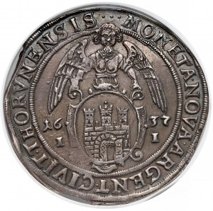 Władysław IV Waza, Talar Toruń 1637 II - NGC AU55