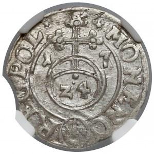 Zygmunt III Waza, Półtorak Bydgoszcz 1617 - NGC MS61