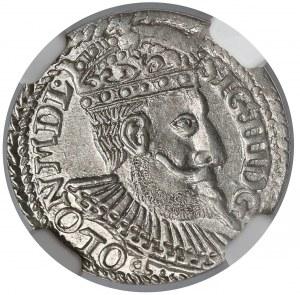 Zygmunt III Waza, Trojak Olkusz 1598 - bez R - NGC MS62