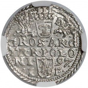 Zygmunt III Waza, Trojak Olkusz 1597 - NGC MS63