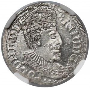 Zygmunt III Waza, Trojak Olkusz 1598 - NGC MS64