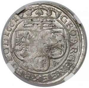 Jan II Kazimierz, Szóstak Lwów 1661 GBA - NGC AU53