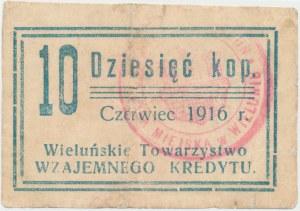 Wieluń TWK 1916 Czerwiec 10 kopiejek